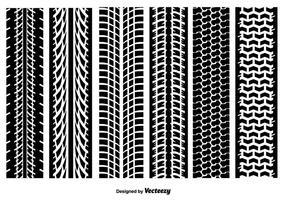 Tire Marks Textures vectorielles vecteur