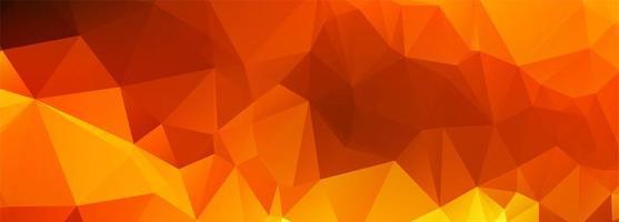 bannière polygonale orange abstrait vecteur