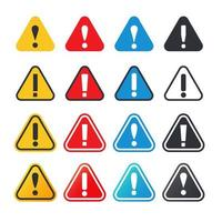 Ensemble de panneaux d'avertissement de point d'exclamation