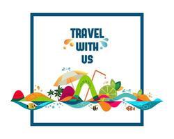 voyagez avec nous bannière vecteur