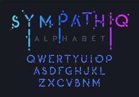 alphabet liquide dégradé