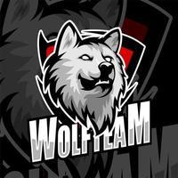logo esports de l'équipe tête de loup vecteur