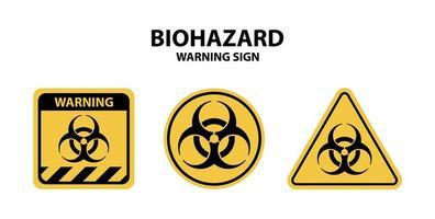 ensemble de panneaux d'avertissement de danger biologique vecteur