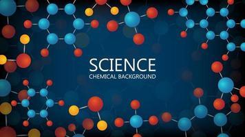 fond abstrait de science chimique vecteur