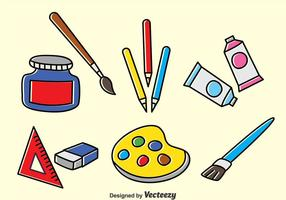 Ensemble de dessins d'outils de dessin vecteur