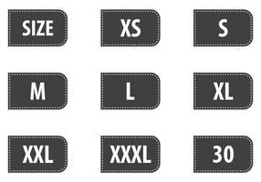 Vecteurs d'étiquettes de taille de vêtements gratuits vecteur