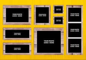 Collage libre de photo vectorielle 6 vecteur