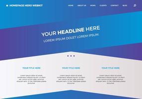 Page d'accueil gratuite hero webkit 4 vecteur