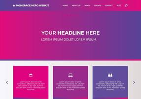 Homepage gratuite Hero Webkit 5 vecteur