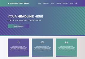 Page d'accueil gratuite hero webkit 6 vecteur