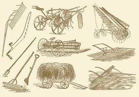 Outils et vecteurs de foin