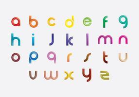 Icônes lumineuses d'icônes de lettres vecteur