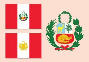Vector Drapeau du Pérou