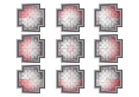 Ensemble vectoriel visuel
