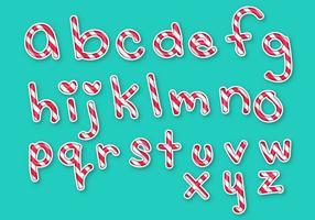Ensemble de lettres Lettres Alphabet Candy vecteur
