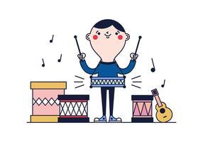 Vecteur principal de tambour gratuit