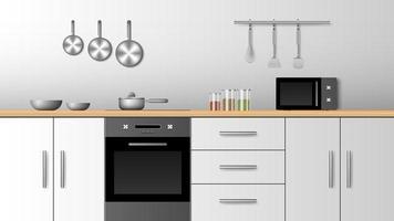 conception de cuisine moderne intérieure réaliste