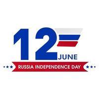12 juin emblème de la fête de l'indépendance de la russie vecteur