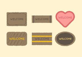 Vecteur de tapis de bienvenue gratuit 2