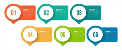 éléments infographiques colorés vecteur