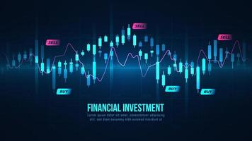 Graphique lumineux de trading forex sur le marché boursier vecteur
