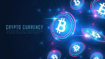concept de technologie blockchain bitcoin vecteur