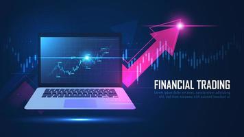 Graphique de trading en ligne boursière ou forex