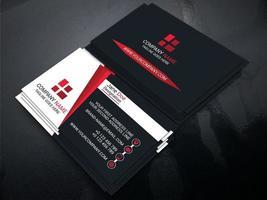 carte de visite officielle noire, blanche et rouge vecteur