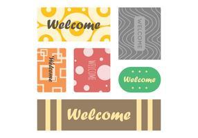 Vecteur de tapis de bienvenue gratuit 4