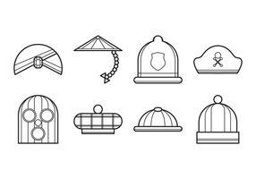 Vecteur icône chapeau gratuit