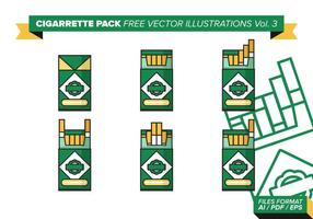 Paquet de cigarettes illustrations vectorielles gratuites vol. 3