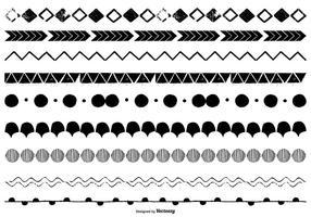 Frontières vectorielles dessinées à la main vecteur