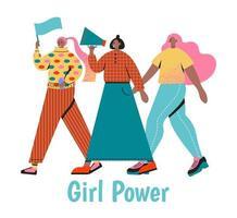 concept de puissance de fille