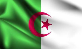 drapeau 3d algérie vecteur