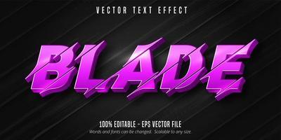effet de texte de style lame violette