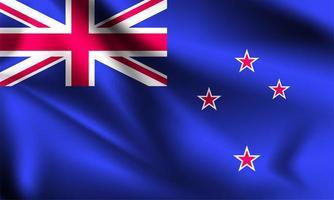 drapeau 3d de la Nouvelle-Zélande