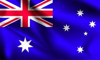drapeau 3d australie vecteur