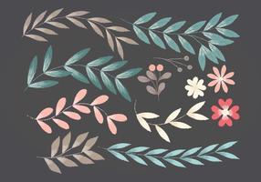 Éléments floraux vectoriels vecteur