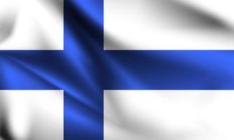 drapeau 3d de la Finlande