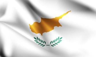 drapeau 3d de Chypre