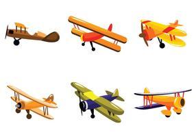 Orange Biplan Vector