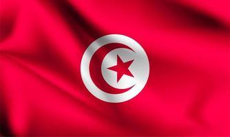 drapeau 3d tunisie vecteur