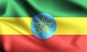 drapeau 3d éthiopien