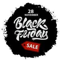 splash de vente vendredi noir vecteur