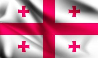 drapeau 3d national de la Géorgie