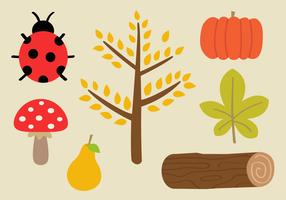 Vecteur gratuit d'éléments d'automne