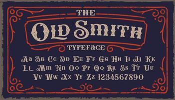 police de caractères old smith vecteur