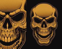 crâne d'or isolé