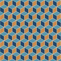 motif de cube isométrique vecteur