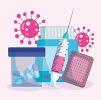 éléments de fournitures médicales vecteur